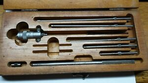 Vintage Starrett Inside Micrometer Set W Box No 124 a Usa Machinist Tools