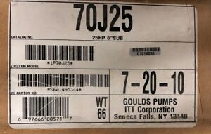 Goulds 70j25 6 Submersible 21 Stages 25 Hp 2 Npt