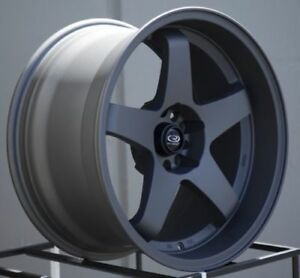 18x10 Rota P 45r2 5x114 3 15 Magnesium Black Wheels New Set