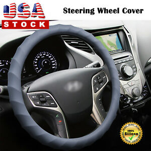 15 16 Car Steering Wheel Cover Thick Silicon Skidproof Odorless Universal