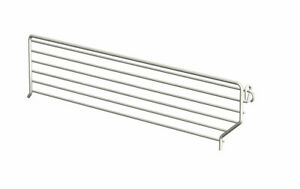 Lozier Wire Bin Divider 3 In X 19 In Chrome Finish Pack Of 20