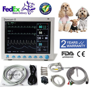 Contec Veterinary Patient Monitor Capnograph Vital Signs 6 Parameter Cms8000vet