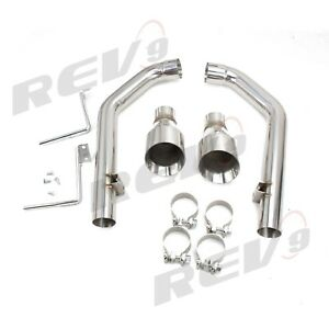 Rev9 Flowmaxx Exhaust Axle Back Exhaust Kit 15 19 Ford Mustang Gt Straight Pipe