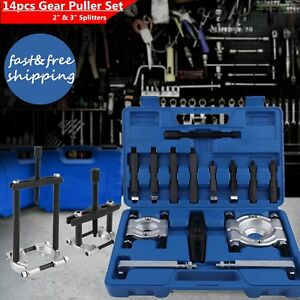 14pcs Bearing Separator Gear Puller Set 2 3 Splitters Remove Bearings Kit He