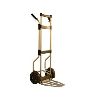 Milwaukee Fold up Hand Truck All Purpose Aluminum Dolly Cart 500 Lb Capacity