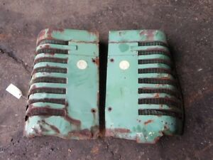 John Deere A Tractor Left right Front Nose Side Screen Tag 6006