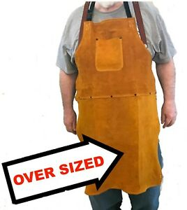 Oversized Leather Shop Apron Safety Apparel For Welding Woodworking Smithing