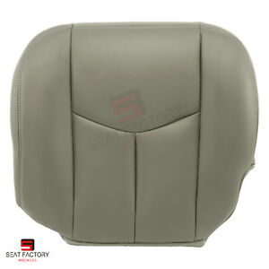 2003 2004 Chevy Silverado 3500 Driver Bottom Synthetic Leather Seat Cover Gray