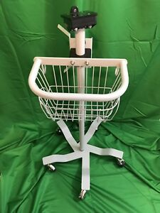 Welch Allyn Vital Sign Monitor Grey Basket Rolling Stand Very Good Preowned