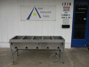 Steam Table W 5 Wells 250v Stainless Steel Top Commercial 3577