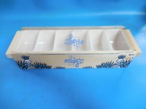 Milagro Tequila 6 tray Wooden Bar Condiment Caddy