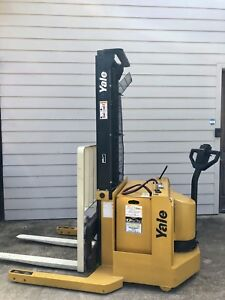 2003 Yale Electric Forklift Walkie Stacker Walk Behind 4000 Lbs Capacity