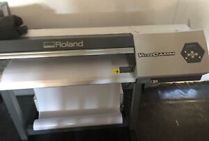 Roland Versacamm Vp 300 Wide format Printer vinyl Cutter With Materials