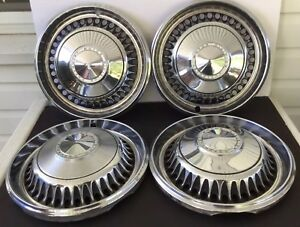 Vintage Set Of 4 Chevrolet Hubcaps 14 Fits 68 Chevy Vehicles Xc 151189
