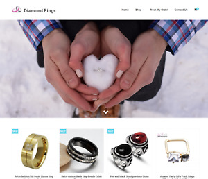 Diamond Rings Turnkey Website Business For Sale Profitable Dropshipping