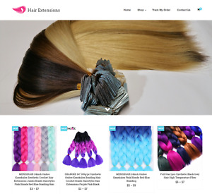 Hair Extensions Turnkey Website Business For Sale Profitable Dropshipping