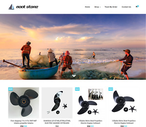 Established Boat Turnkey Website Business For Sale Profitable Dropshipping