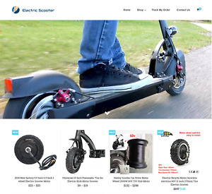 Electric Scooter Turnkey Website Business For Sale Profitable Dropshipping