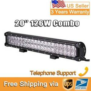 4d 20 Inch 126w 180w 240w Led Light Bar Off Road Work Driving Headlight Eu1