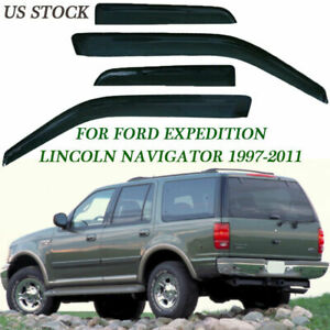For Ford Expedition 1997 2011 Smoke Window Vent Visors Rain Guards Shade 4 Piece