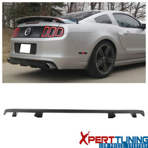 Fits 10 14 Ford Mustang Ls Style Rear Trunk Spoiler Matte Black Abs
