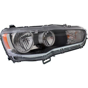 New Head Lamp Assembly Fits 2008 2009 Mitsubishi Lancer Front Right Mi2503139c