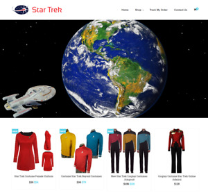 Established Star Trek Turnkey Website Business For Sale profitable Dropshipping
