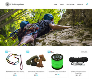 Climbing Gear Turnkey Website Business For Sale Profitable Dropshipping
