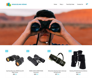 Binoculars Turnkey Website Business For Sale Profitable Dropshipping