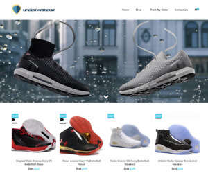 Under Armour Turnkey Website Business For Sale Profitable Dropshipping