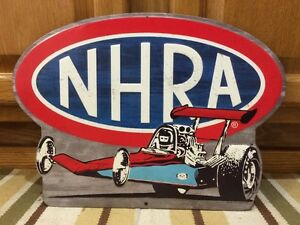 Nhra Metal Drag Race Top Fuel Coupe Man Cave Garage Motor Gas Oil Tire Batterie