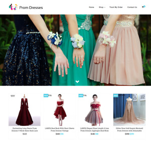 Ladies Prom Dresses Turnkey Website Business For Sale Profitable Dropshipping
