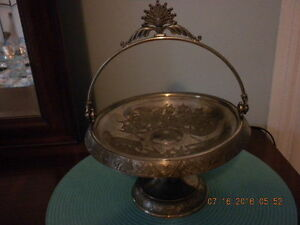 Antique Victorian Silver Plate Brides Basket Hardford Quadruple Marked 1003