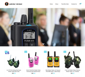 Walkie Talkies Turnkey Website Business For Sale Profitable Dropshipping