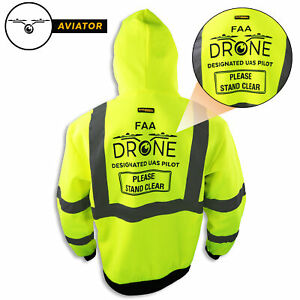Kwiksafety Aviator Drone Fleece Hoodie Ansi Class 3 Safety Jacket Anti pill