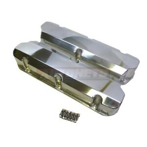 Sbf Fabricated Polished Aluminum Valve Cover Tall 289 351w 5 0l Small Block Ford