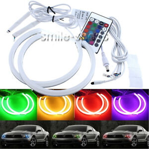 For Ford Mustang Non Projector 05 12 Rgb Cotton Led Demon Angel Eyes Halo Rings