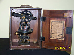 Vintage C l berger Sons Surveying Transit Instrument Of Precision works