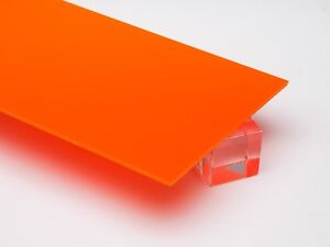 1 8 Solid Orange Acrylic Plexiglass Opaque Sheet 12 X 12 Azm