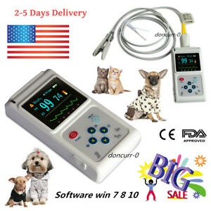 Fda Cms60d Vet Veterinary Pulse Oximeter Spo2 Pr Monitor Vet Probe Pc Software