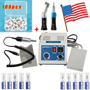 Dental Electric Micromotor Contra Angle Straight Handpiece burs Polishing Cup