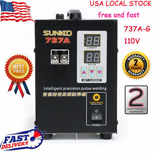 Handheld Sunkko 737a g Battery Spot Welder With Pulse Current Display Us Fast