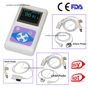 Ce Hand held Cms60d Adult child neonatal 3 Probes Heart Rate Monitor Software