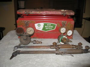 Vintage Welding Brass Cutting Torches Victor Airco Harris With Box