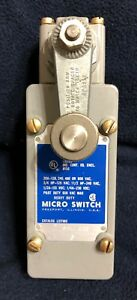 new Micro Switch By Honeywell 51ml1 8425 Heavy Duty Roller Lever Limit Switch