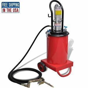 3 Gallon Air Pneumatic Compressed Grease Pump Injector High Working Pressure