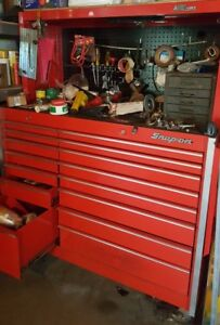 Snap On Snap On Kr1000 Chest And Mac Tools Cabinet 2 Piece Set Work Station