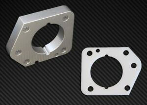 Torque Solution Throttle Body Spacer Silver Fits Honda Civic Lx ex dx R18 06 11