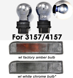 Stealth Chrome Bulb 3157 3057 4157 White Front Signal Light B1 1 For Buick