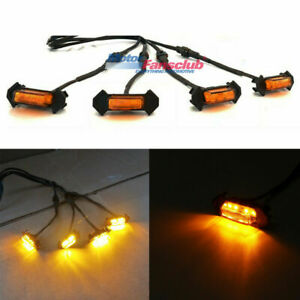 4x Led Amber Light Lamp For Toyota Tacoma Pt228 35170 2016 2018 Front Grille
